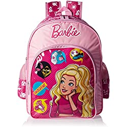Barbie Polyester Pink School Bag (Age group :6-8 yrs)