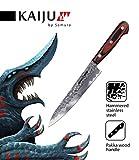 Samura KAIJU Profi Allzweckmesser ultra-scharf, groß, aus japanisch AUS 8 Stahl, gehämmert, 15 cm Klinge, mit Handgriff aus Pakka-Holz, Kochmesser, Spickmesser