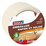 Tesa Emballer Adhésif de Fermeture PP Rapide et Solide Transparent 66m x 50mm