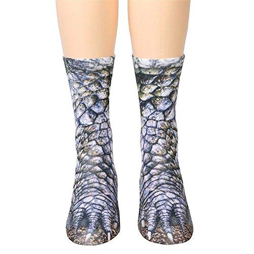 Socken Damen Herren Drucken Socken Tiertatzen Socken Lang Socken Lustige Socken By EUZeo (D-Dinosaurier)