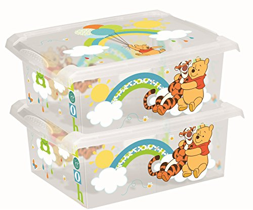 2 x Spielzeugkiste Spielzeugbox Box Fashion-Box Disney Winnie Pooh 10 L (Winnie Box Pooh Toy The)