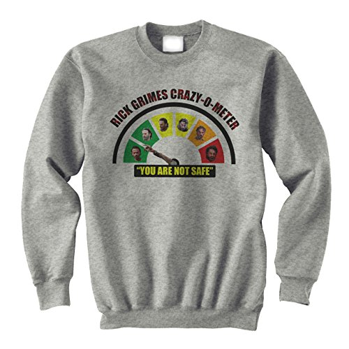 Walking Dead Rick Grimes Crazy Metter Medium Unisex Sweater