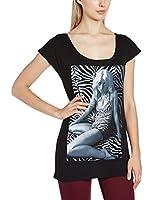 Plastic Head Women's Debbie Harry Zebra GFT Crew Neck Short Sleeve T-Shirt