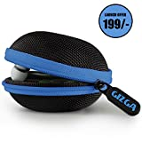 #8: Gizga Essentials G11 Earphone Carrying Case for Earphones, Headset, Pen Drives, SD Cards (Blue)