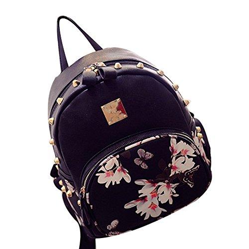 tellw Donna Viaggi Shopping Borsa Zaino, Donna, Black, 26*31*13cm Black