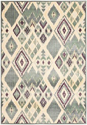 Safavieh Moderner Teppich, PAR114, Gewebter Viskose, Grau / Mehrfarbig, 243 x 340 cm