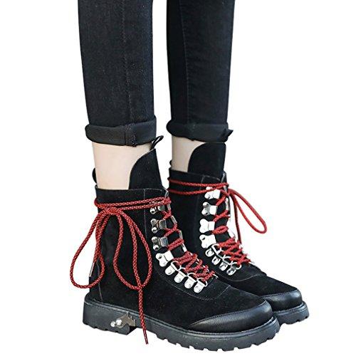 Chaussures Décontractée Martin À Suede Pied Womens Bottes Plate 7wRAwFxq