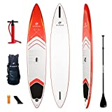 FIT OCEAN ALLROUND SPEEDSTER 12'6 RED aufblasbares Stand Up Paddling Board iSUP 381x72x13 cm KOMPLETT-SET Lust auf etwas Schnelleres? Schnell wie ein Race-Board UND stabil wie ein Allround-Board