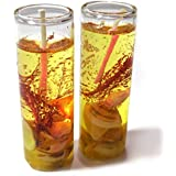 Shot Glass Gel Colors Candle (Yellow, Pack Of 2)
