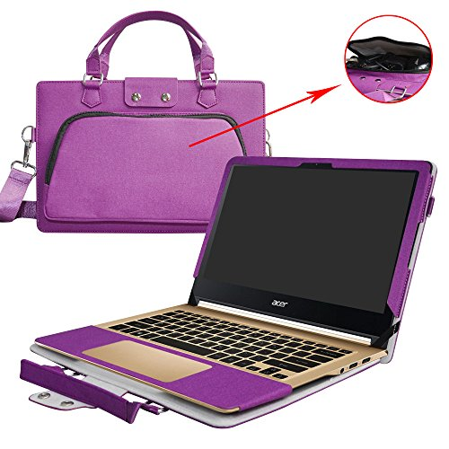 Acer Swift 7 Hülle,2 in 1 Spezielles Design eine PU Leder Schutzhülle + Portable Laptoptasche für 13.3