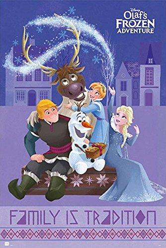 Disney Olaf's Frozen Adventure Poster All Characters (61cm x 91,5cm) + weiße Geschenkverpackung. Verschenkfertig!