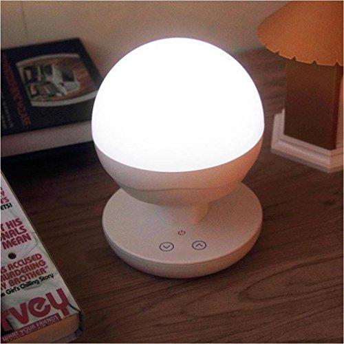 TWIFER Nachladbare LED-Tabellen-Lampe, Nachtlicht, Leselicht, multifunktionale intelligente Kinder-Nachttischlampe, bewegliches im Freien kampierendes Licht