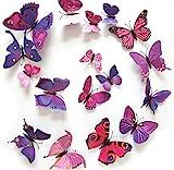 Deko Schmetterling Magnete 12 Stück Deko viele Farben (Violett)
