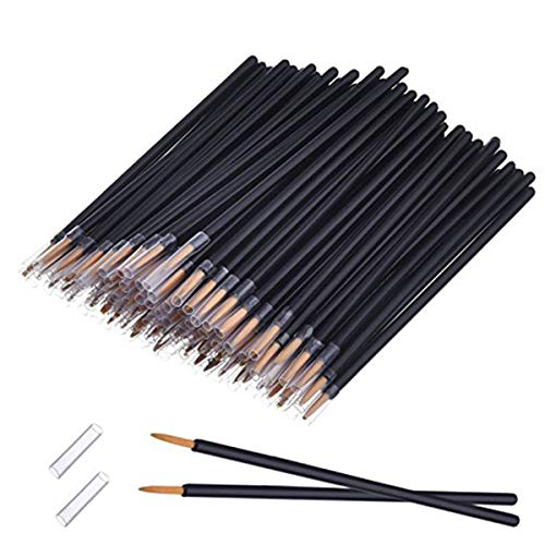 50 Pack Desechable Eyeliner Brush Aplicator Cosmetic