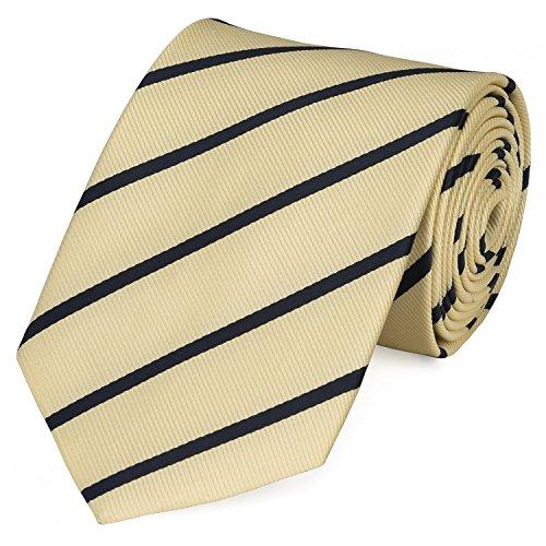 Fabio Farini Krawatte 8 cm klassiche Breite verschiedene Farben, Verschiedene Krawatten 8cm:gelb schwarz;Verpackung für die Krawatte:mit Geschenkverpackung