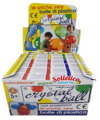 Crystal Ball - Le uniche, Vere Bolle di plastica , 4 Colori (24 Assortiti)