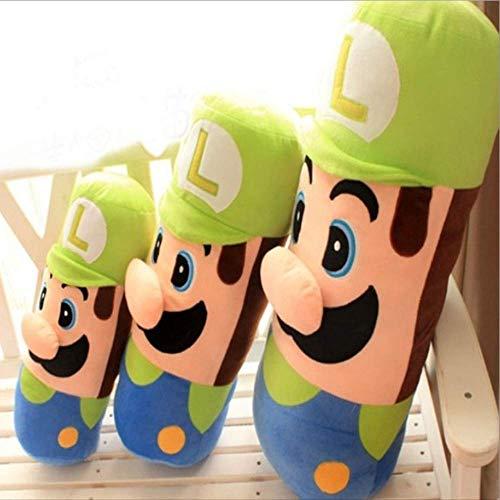 YANGTOY Plüsch Spielzeug Super Mario Puppe, Weiche Tier Cartoon Kissen Kissen, Süße Mario Plüsch Spielzeug Gefüllt, Schöne Kinder Geburtstagsgeschenk Kawaii 60 B