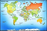 #8: World Map Wall Posters for Room School, Classroom & for Education Purpose – Children Learning Posters With Matte Finish