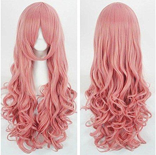 (CoolChange Hochwertige Vocaloid Luka Perücke mit Dauerwelle in Rosa)