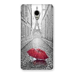 Stylish Tower Red Umbrella Multicolor Back Case Cover for Lenovo Vibe P1