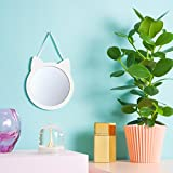 Wandspiegel Katze | Kinder Spiegel | Spiegel Kinderzimmer | Geschenke für Mädchen | Kinderspiegel | Spiegel weiss