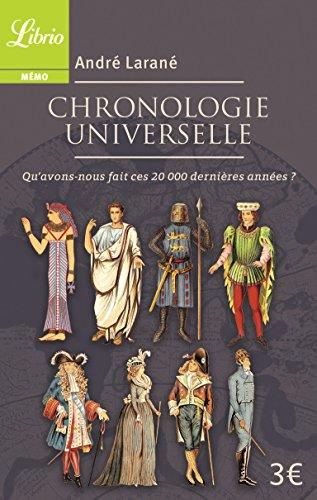 Chronologie universelle : Qu'avons-nous fait ces 20 000 dernières années ? par André Larané