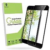 [Schwarz] MORNTTE panzerglas schutzfolie für iPhone 6/ iPhone 6s panzerglas iPhone 7/ iPhone 8 [HD displayschutzfolie] [9H Härte] [Anti-Öl] [Anti-Kratzen] [Anti-Bläschen] screen protector glas [4.7 Zoll]