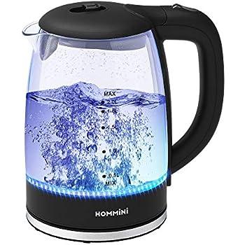 Amazon.de: Glas Wasserkocher, HOMMINI 2 Liter Wasserkessel