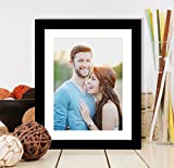 #4: Smoothway Design Decorative Photo Frame (8x10 Inches Photo Size) for Table Top or Wall Hanging. Colour Type - Black