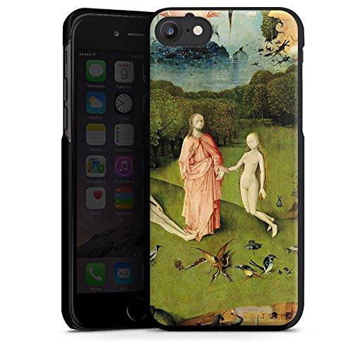 Apple iPhone X Silikon Hülle Case Schutzhülle Der Garten Eden Adam und Eva Kunst Hard Case schwarz