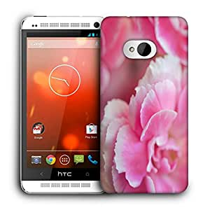Snoogg Pink Petals Designer Protective Back Case Cover For HTC ONE M7