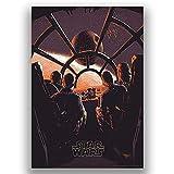 Star Wars Millenium Falcon Death Star Film Fumetto Film Vintage Stile retrò Poster Tela Wall Art Stampa Foto Grande Piccola
