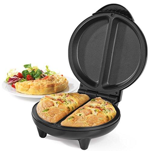 Salter Salter EK2716 Non-Stick Dual Omelette Maker, 750 W , Black