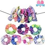 7 pcs scrunchies de Pelo Anillo de pelo de tela Coletero Elástico para Mujeres y Chicas 7 Colores