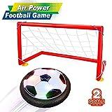 Air Football, Baztoy Air Power Soccer Fußball mit Fußballtor LED Beleuchtung kinder Air Fussball spielzeug für drinnen und draußen
