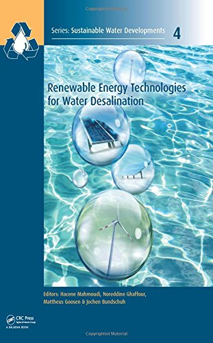 Renewable Energy Technologies for Water Desalination (Sustainable Water Developments - Resources, Management, Treatment, Efficiency and Reuse)