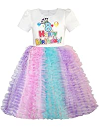 Sunny Fashion Girls Dress Happy Birthday Candle Party 1st Birthday Tutu Dress Age 12m-8 Years