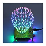 RGB LED Cubic Ball DIY Kit Bunte LED Licht Cube Cubic Ball mit Shell Kreative elektronische Kit Fernbedienung