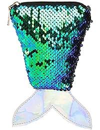 Pailletten Crossbody Tasche,Transwen Frauen Kleine Fisch Umhängetaschen Glitzer Messenger Bag Schulter Münztüte Phone Tasche für mädchen Geschenke