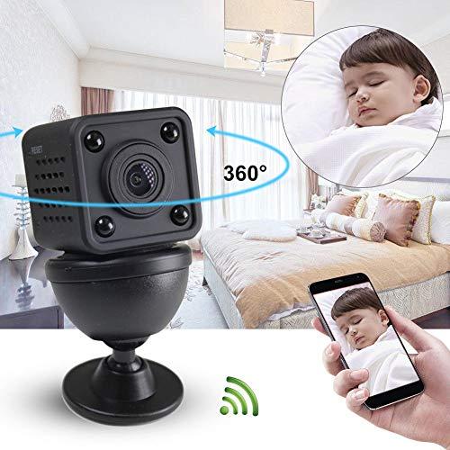Fornateu WiFi Wireless Mini-Kamera-HD-Handgriffe Digitalkameras Tragbare DV Recorder Nachtsicht Home Security Camcorder