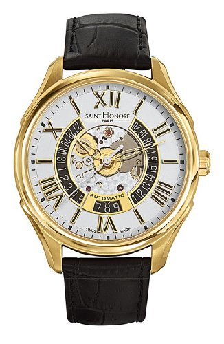 Saint Honore Men's 880050 3ARAT Carrousel Paris Yellow Gold PVD Stainless Steel Automatic Date Watch