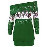Heißer Damen Weihnachten Sweatshirt LSAltd Frauen Mode Schulterfrei Pullover Weihnachten Schneemann Musical Print Tops Casual Langarm Bluse Weihnachten Kostüm Plus Größe XL-5XL