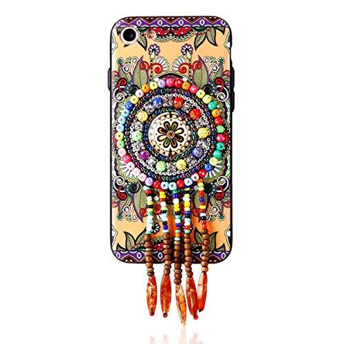 """iPhone 6sPlus Hülle, iPhone 6Plus Handytasche CLTPY Premium Weich Silikon Case, Luxury Bunt Vintage Jewelry Handmade Schale Etui für 5.5"""" Apple iPhone 6Plus/6sPlus (Nicht iPhone 6/6s) + 1 x Stift - Re Retro Totem 2"""