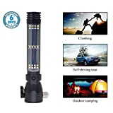 Voroly Rechargeable Ultra Bright Handheld Solar LED Flashlight with 7 Modes Emergency Tool