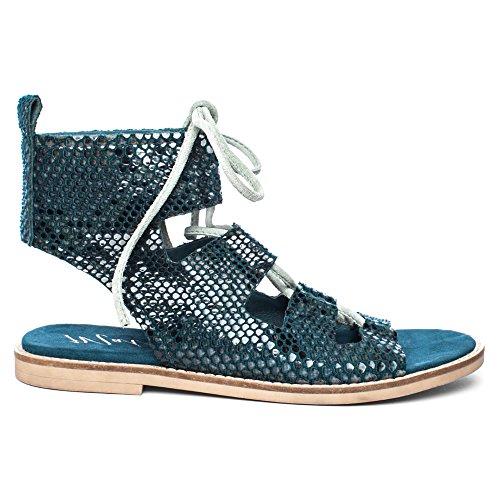 Matisse Shells Toile Sandales Gladiateur blue