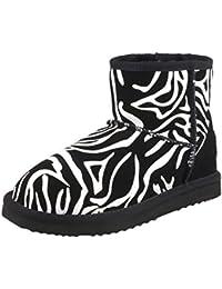 Shenduo Zapatos Invierno clásicos - Botas de Nieve de Piel de caña Baja Impermeable Antideslizante para