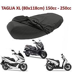 Idea Regalo - Telo coprisella impermeabile per scooter e scooteroni 50 125 150 200 300 (XL)