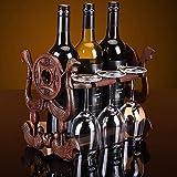 Chinesische Weinregale Lucky Treasures Mahagoni Flaschenregal Home Becher Auf den Kopf Kreative Hängende Multi-Flasche Dekoration Schrank Lagerung Locker Wein Innen Desktop Küche Ausstellungsstand