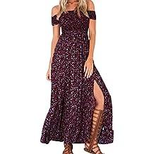 Estidos Largos Estampados Florales De Mujer Vestidos Fuera De Hombro Vestido De Playa Vestido De Fiesta