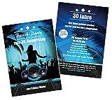 Unser-Festtag Coole Beach-Party zum Geburtstag Erwachsene, Mann Frau - für jedes Alter - 10 Karten - 17 x 12 cm